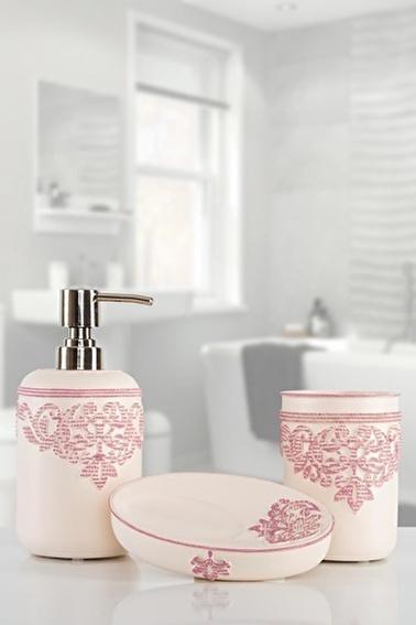 İrya Julian Pembe 3 Parça Banyo Seti Renkli
